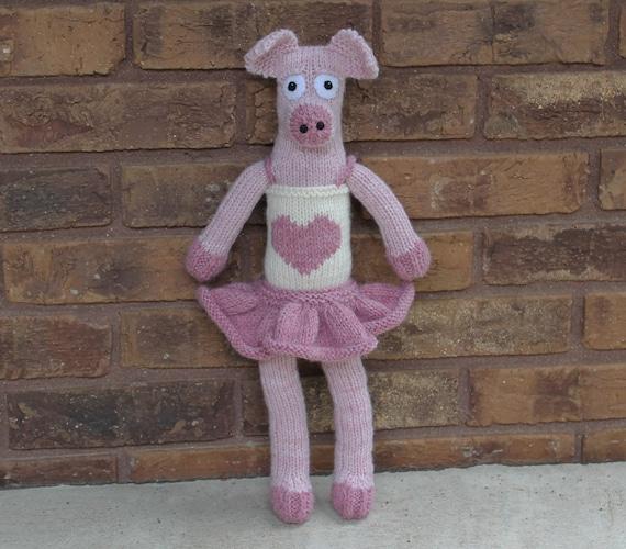 Peggy Piggy PDF Knitting Pattern