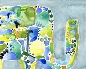 Rainy Day Ellie Small Original Watercolor