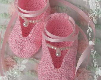 Crochet Pattern Lace Baby Booties