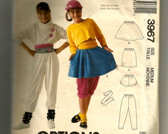 McCall's Girls' Skirts, Pants, Shorts, and Sash for Stretch Knits Only Pattern 3967