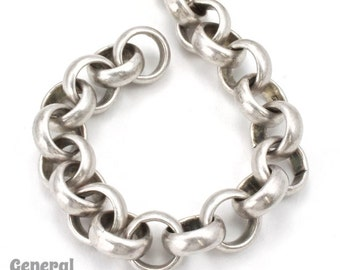 11mm Antique Silver Rolo Chain #CC230