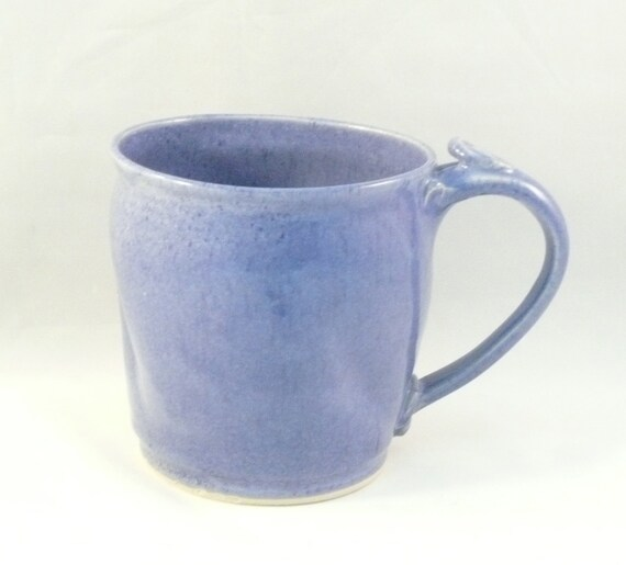 Handmade Pottery Mug Coffee Cup  in Periwinkle Purple teacup holds 16 ounces Beer stein or tankard - Fiesta Color - Cappucino Mug - Beer E