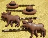 Hair Pins- Park Ranger and Moose Pins