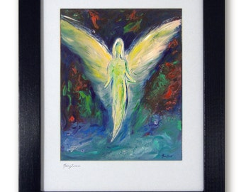 Spiritual Gift from Vision of Angels - Mat print 11x14 Compassion's Arrival by artist BenWill