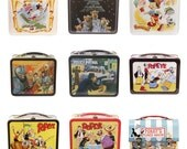 Retro Lunchbox Magnet - Peter Pan, Pigs in Space, Pinocchio, Planet of the Apes, Popeye, Looney Tunes