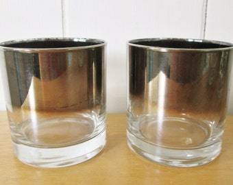 2 vintage silver ombre tumblers