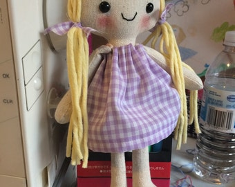 """If Rapunzel from Tangled was a 10"""" rag doll this is what she would look like"""