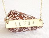Custom Stamped Necklace
