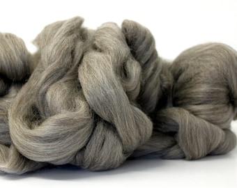 Grey Gotland Combed Wool Top  Scandanavian Fibre 500g 1.1lb