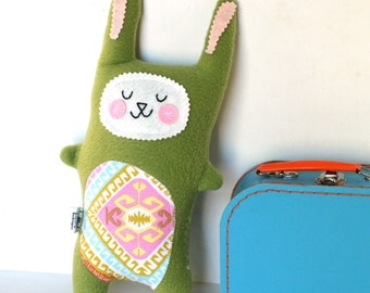 READY to SHIP Plush Bunny Rabbit Softie Rabbit Doll Stuffed Animal - Baby Gift  Woodland Nursery Decor