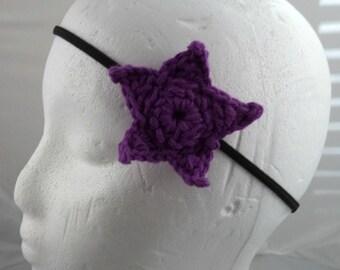 Crocheted Small Star Headband - Purple (SWG-HH-STSM02)