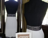 Vintage 1960s dress - Rayon/Gabardine Sheath - L/XL
