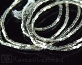KL-007 thai karen hill tribe silver 50 mini cubic bead