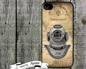 iphone 6 case Antique Diving Helmet iPhone Case - for iphone 4,4s  iphone 5 samsung galaxy s3 s4 s5 Fathers Day