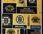 Boy or Girl Cotton Burp Cloth  Made with Boston Bruins Hockey NHL 100% Cotton Fabric