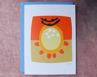 Abstract Collage Card - The Light