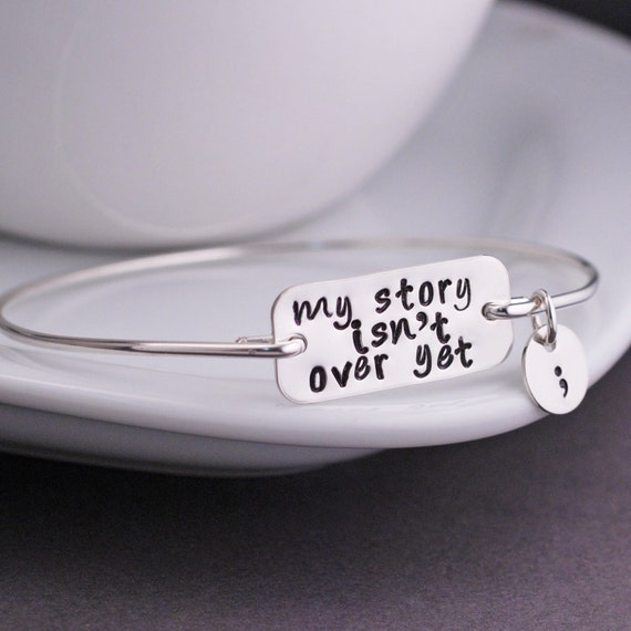 My Story Isn T Over Yet Bangle Bracelet By Georgiedesigns