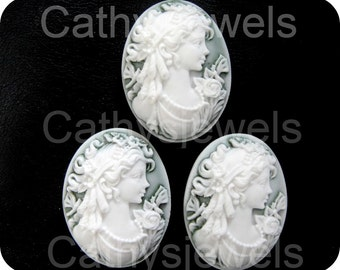 Victorian Woman Portraiture Cameo