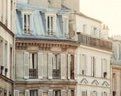 "Montmartre Apartment, Paris Photography, French Wall Decor, Paris Print, Fine Art Photography, Large Wall Art Print ""Pale Morning"""