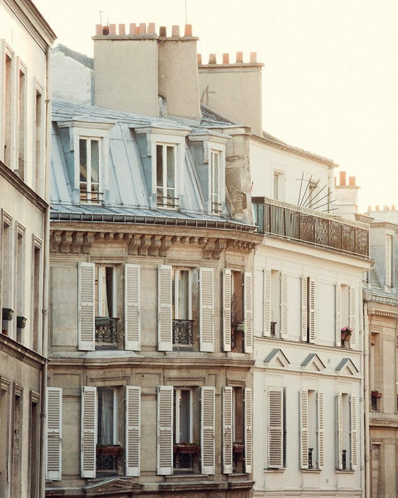 "Montmartre Apartment, Paris Photography, French Wall Decor, Paris Print, Fine Art Photography, Large Wall Art Print ""Pale Morning"""