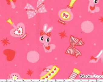 Lecien Japanese Kawaii Bunny Fabric FQ