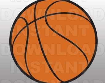 Basketball SVG File Cutting Template - Clip Art for Commercial and Personal Use - Vector Art file for Cricut, SCAL, Cameo, Sizzix, Pazzles