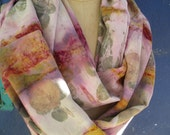 Eco Print Silk Charmeuse Circular Scarf..... Breaking out of the Grid