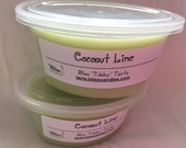 COCONUT LIME - Two 2 oz Bliss Soy Tubby Tarts