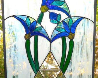 Egyptian Lotus with Pyramid Art Deco Style