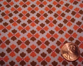 QUARTER YARD vintage fabric ORANGE and brown tiny print Blythe doll dressmaking quilt quilter quilting