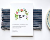 A Garden Wedding Wedding Invitations 50 - Flowers and Couple Wedding Card - Recycled Paper