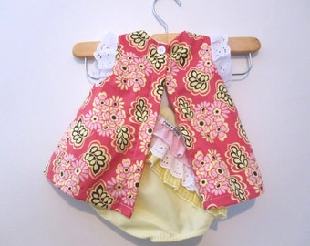 Swing Set - Fiona Floral - Photography prop - Top and Ruffle Bottoms