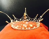 Wire, pearl and crystal fairy crown SAMPLE SALE