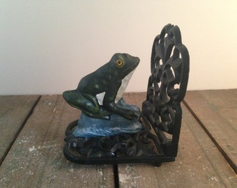 Cast Iron Frog Book End