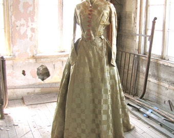Civil War Era Bodice and Trained Skirt Gown XS/S
