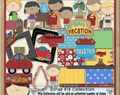 Family Vacation Scrapbook Clip Art
