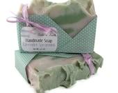 Lavender Spearmint Handmade Vegan Soap with Essential Oils