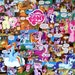 My Little Pony Decoupage Comic Collage Canvas
