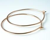 Rose Gold Hoop Earrings, Small Size Hoop Earring, Pink Gold Hoop Earrings