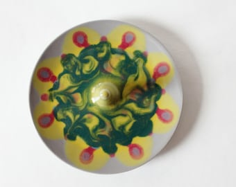 Swirled Glazes Ring Dish, Wheel Thrown, Clay Pottery Ring Holder, Jewelry organizer, ready to mail