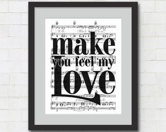 Song lyrics to make you feel my love