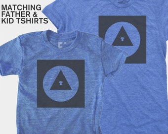 SALE! Matching Dad Son Shirts, Baby Father Daughter Matching TShirts, Explorer Icon, Father Child Matching Geometric Shapes