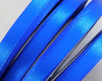 "Satin Ribbon CLOSEOUT SALE  (R46A) 1/4"" Royal Blue - 25 yard Spool  Crafts DIY Wedding Ribbon Wands Streamers Party Decor"