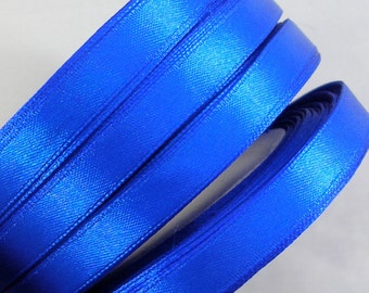 "Satin Ribbon (R30A) Bright Royal Blue  3/8"" wide - 25 Yard Spool//Crafts DIY Wedding Streamers Dreamcatchers Bows Party Decor CLOSEOUT"