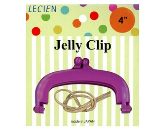 LECIEN - Jelly Clip Purse Frame - 4 inch Small - PURPLE 57620-110 - Bag Handle