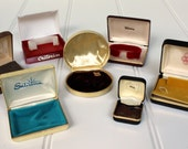 Vintage Jewelry Presentation Boxes - Cuff Links - Watch - Ring - Necklace - Bracelet - Anson - Swank - Sabrina - Triumph