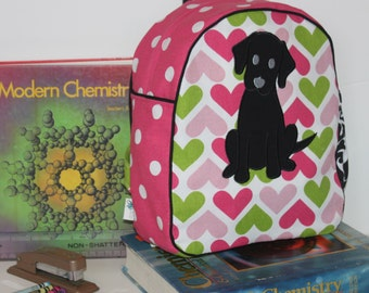 Handmade Puppy Backpack for a Toddler -Ready to Ship-CLEARANCE TAKE 30% OFF - no coupon code needed