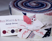SALE Red, White, and Free by Sandy Gervais Jelly Roll Moda Fabrics