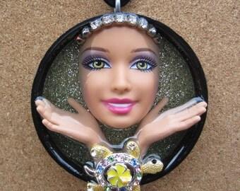 Ocean Zen  - Upcycled Barbie Doll Pendant
