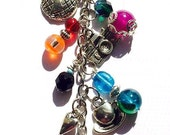 Travel & Vacation Themed *Beaded Keychain * Purse Charm * Planner Decoration* Great Gift For Your Favorite World Traveler
